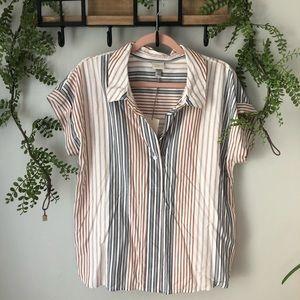 NWT | a new day stripe blouse sz L